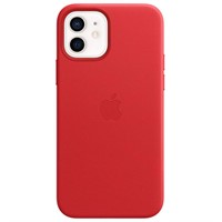 Skal iPhone 12 Pro Max Leather Case with MagSafe - (PRODUCT)RED