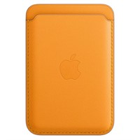 Plånbok iPhone Leather Wallet with MagSafe - California Poppy